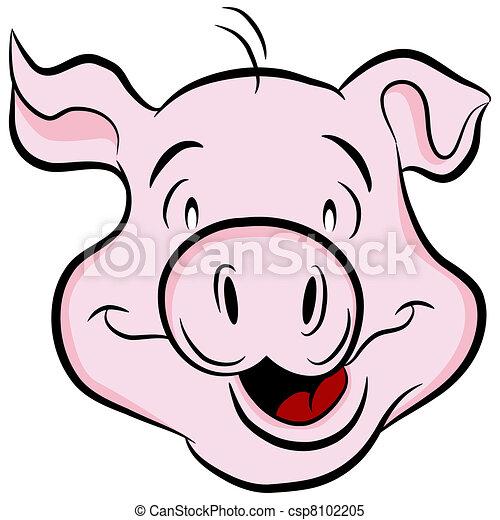 hoofd, varken - csp8102205