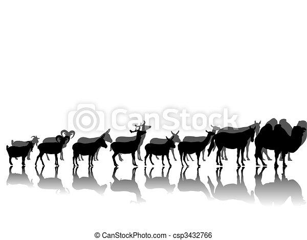 hoofed animals - csp3432766