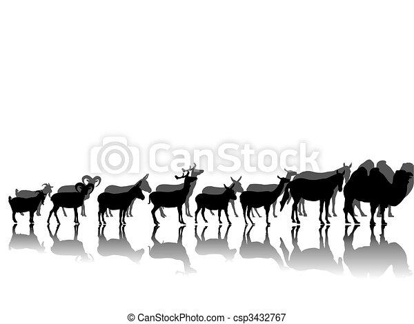 hoofed animals - csp3432767