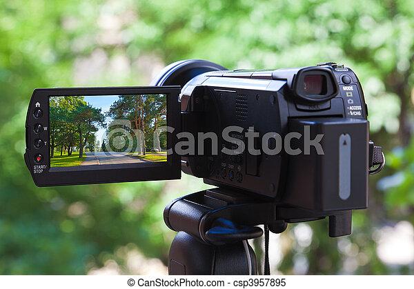 hoog, definitie, camcorder - csp3957895