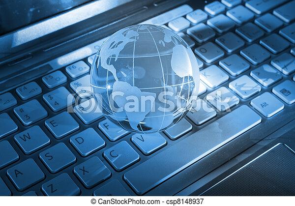 hoog, globe, technologie - csp8148937