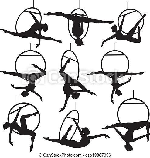 hoop, aerial akrobat - csp13887056