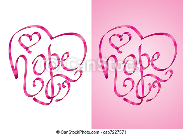 hope breast cancer awareness hope heart shape vector clip rh canstockphoto com breast cancer awareness clip art images clipart breast cancer awareness month