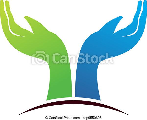 Hope hands  - csp9550696