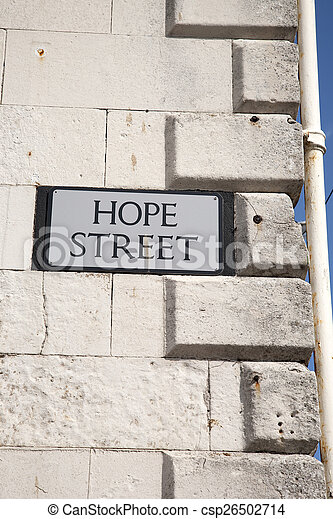 Hope Street Sign - csp26502714