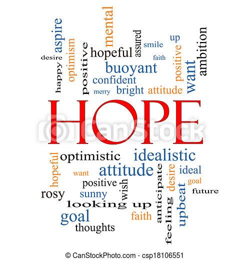 Hope Word Cloud Concept - csp18106551