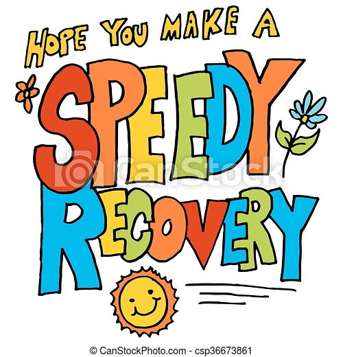 an image of a hope you make a speedy recovery message rh canstockphoto com how to make clipart transparent in word how to make clip art