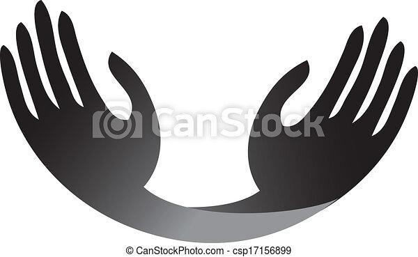 hopeful hands logo vector eps vectors search clip art rh canstockphoto com hand vector logo hand vector free download