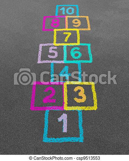 Hopscotch - csp9513553