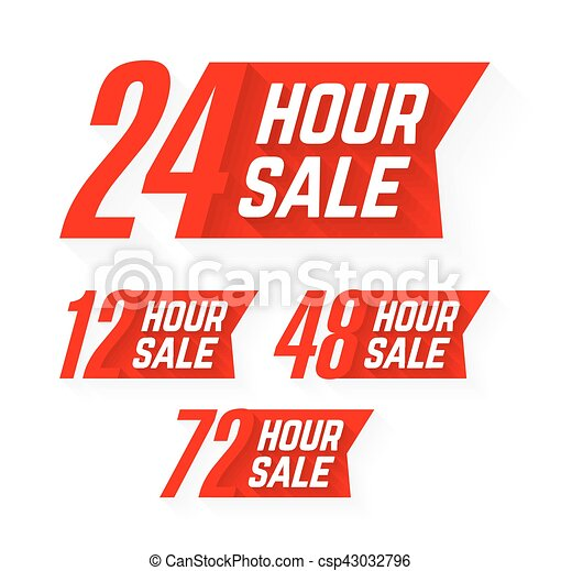 12, 24, 48 y 72 horas de ventas - csp43032796
