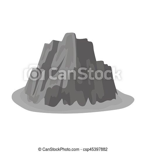 hora, móda, illustration., ikona, hory, příkrý, znak, barvy, silný, svobodný, vektor, mazaný, ponurý, monochróm, pastvina, spikes.different, kmen - csp45397882