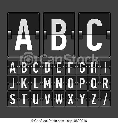 alfabeto horario mecánico - csp18602916