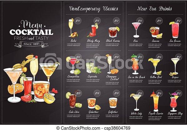 Cocktail Karte.Cocktail Karte Karte
