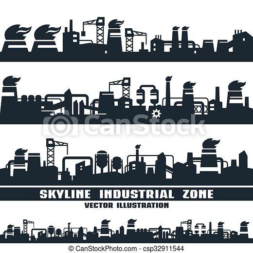 horizon, industriel, ensemble - csp32911544