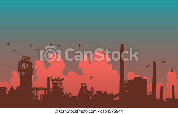 horizon, industriel - csp4375944
