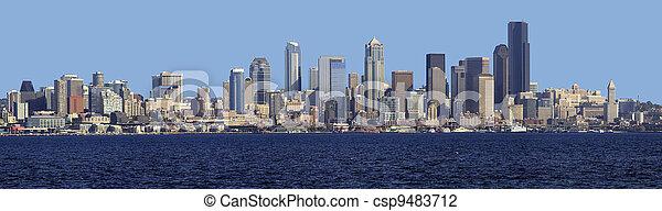 horizon, seattle, panorama. - csp9483712
