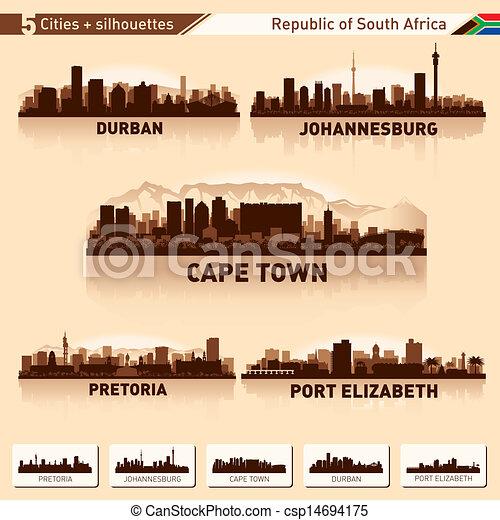 horizon ville, ensemble, afrique, sud - csp14694175