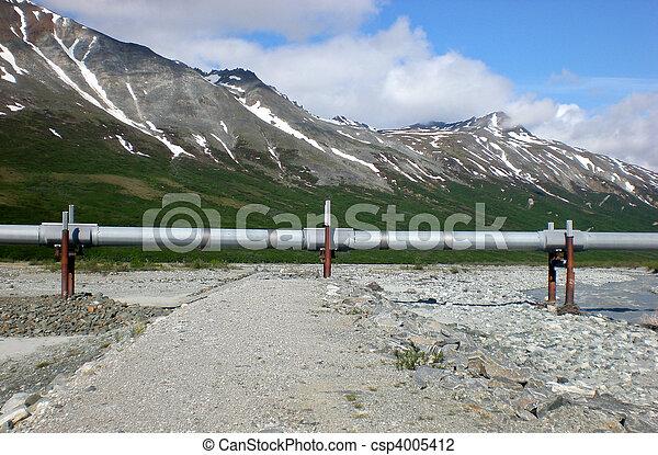 horizontális, csővezeték, alaszka - csp4005412