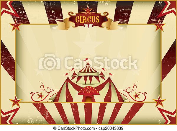 horizontais, circo, grunge - csp20043839