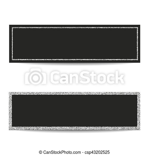 Horizontal banner templates with silver frames. Set of horizontal ...