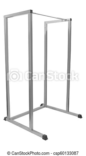 horizontal bar isolated on white background - csp60133087