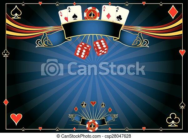 Horizontal blue Casino - csp28047628