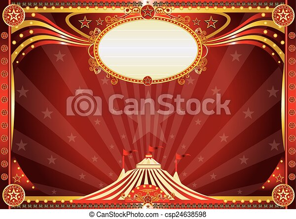 Horizontal Blue circus background - csp24638598