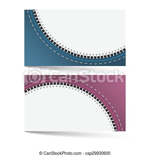 Horizontal business card template with zip pattern and two color horizontal business card template with zip pattern and two color options csp29930600 colourmoves