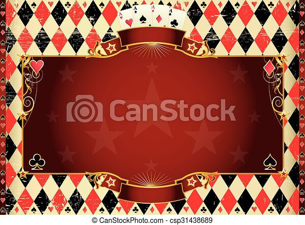 Horizontal Cards background - csp31438689