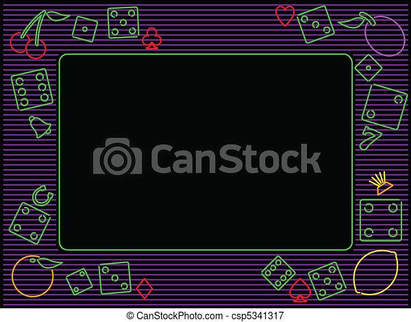 horizontal gambling frame - csp5341317