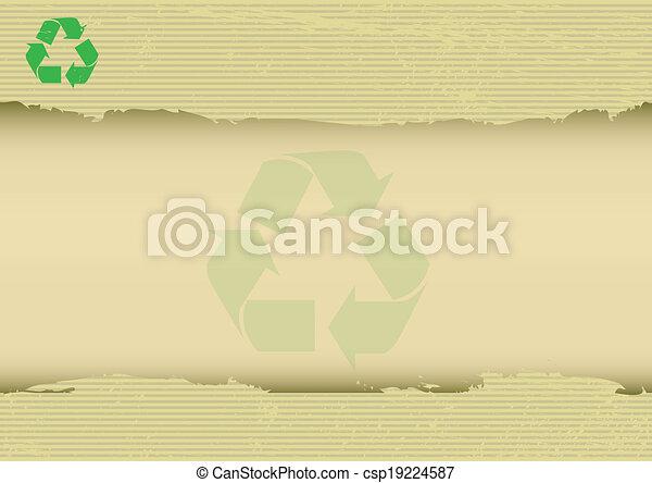horizontal, gekratzt, hintergrund, recyclabe - csp19224587
