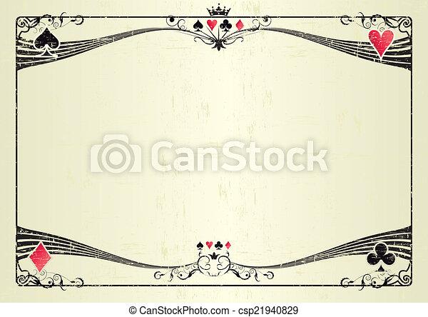Horizontal grunge casino - csp21940829
