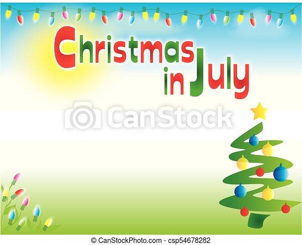 Weihnachten in july Hintergrund Vorlage horizontal - csp54678282