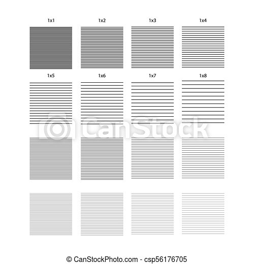 horizontal lines striped design set of seamless vector patterns alternation of black and white bands of different widths collection of geometric