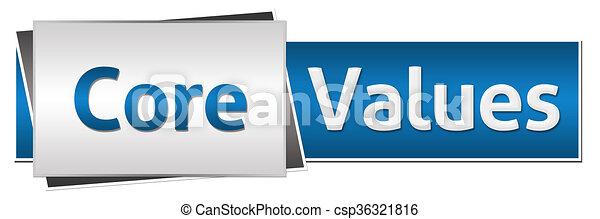 El núcleo valora la horizontal gris azul - csp36321816