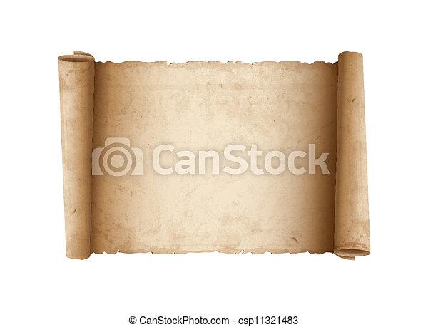 Horizontal Old Scroll paper - csp11321483