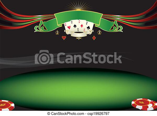 Horizontal poker background - csp19926797