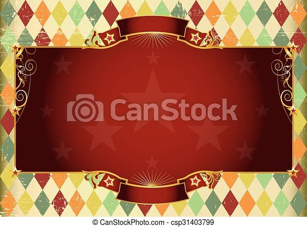 Horizontal rhombus vintage background - csp31403799