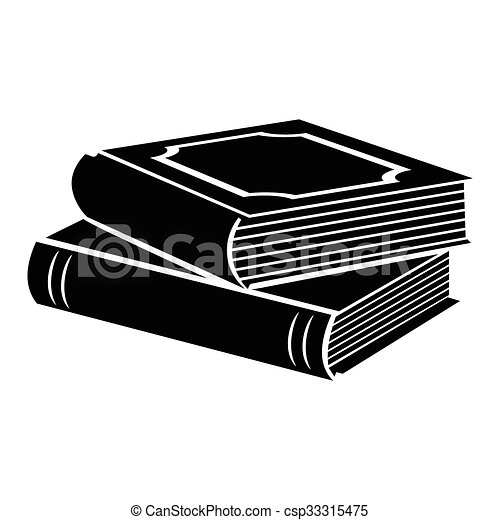 Horizontal Stack Of Two Books Black Simple Icon