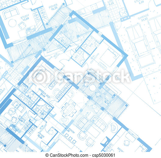 horizontal, vecteur, blueprint. - csp5030061
