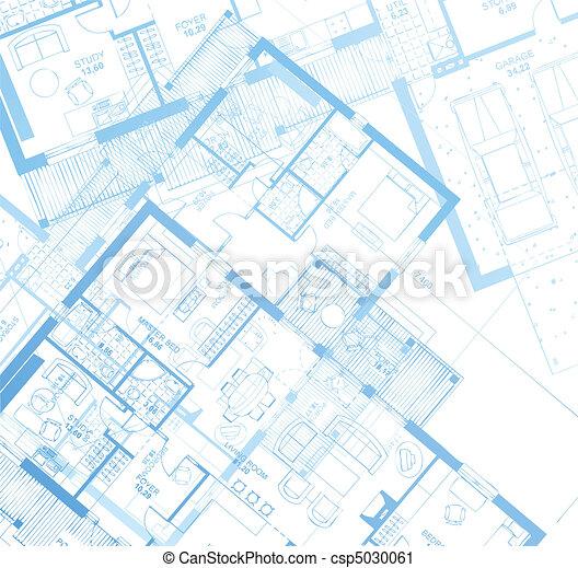 Horizontale Blaupause. Vector - csp5030061