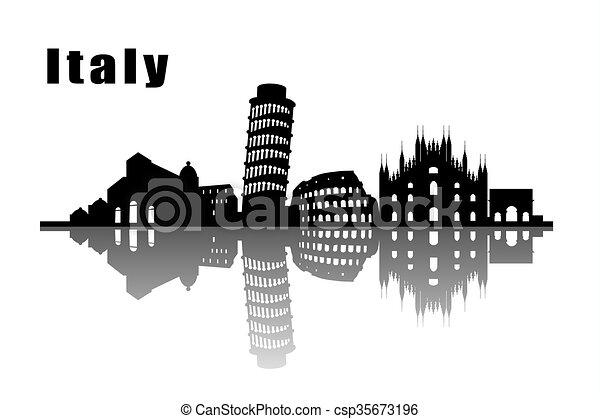 horizonte cidade, itália - csp35673196