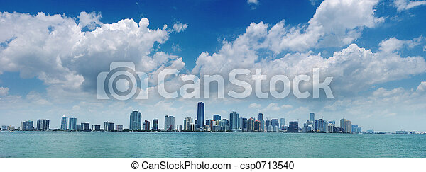 Miami Skyline - csp0713540