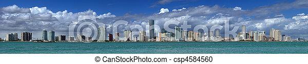 El horizonte de Miami - csp4584560