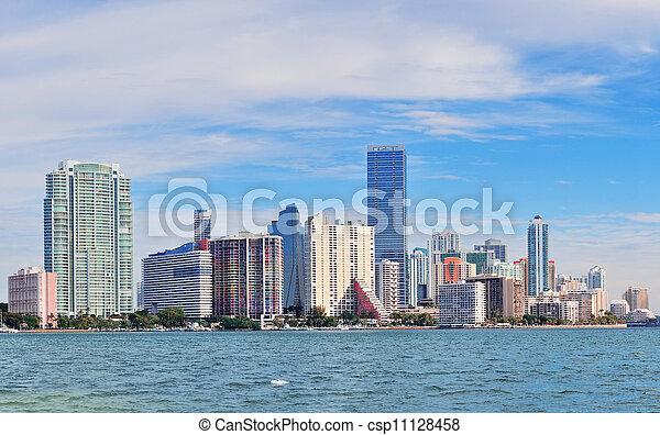 El horizonte de Miami - csp11128458