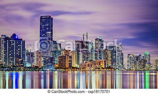 Miami Florida Skyline - csp18170701