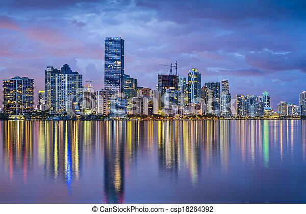 Miami Florida Skyline - csp18264392