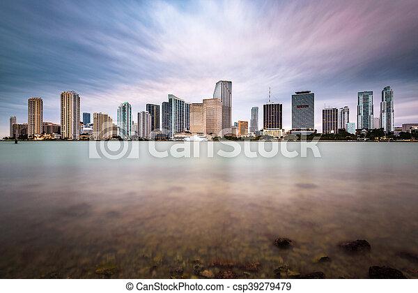 Miami Florida Skyline - csp39279479