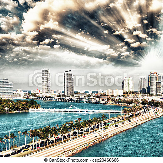 El horizonte de Miami - csp20460666