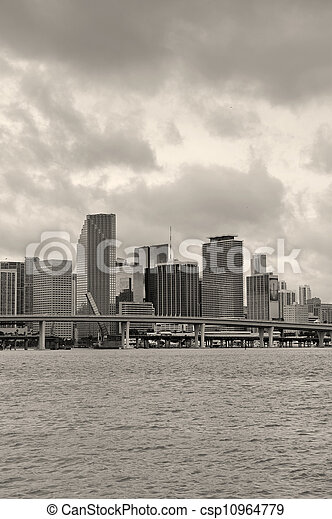 Miami Skyline - csp10964779